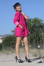 black Alexander Wang shoes - black American Apparel dress - pink vintage blazer