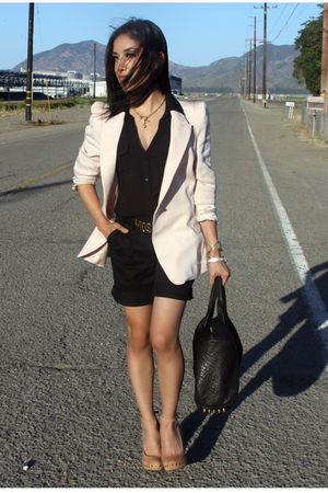 black Alexander Wang bag - beige Aldo shoes - pink Zara blazer