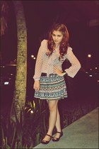 Dulci Project skirt - Forever 21 blouse - Melissa flats