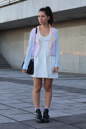 Bershka jacket - Zara boots - Bershka dress - Zara bag
