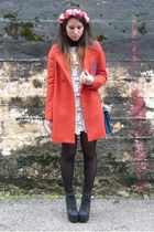 carrot orange Zara coat