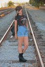 Black-obey-shirt-blue-vintage-levi-shorts-black-jeffrey-campbell-shoes-bla
