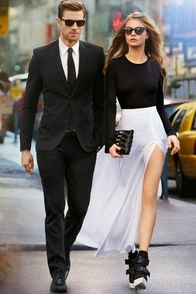Black And White Skirts
