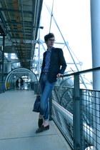 7 for all mankind jeans - SANDRO blazer - Mismo bag