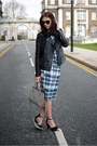 Black-forever-21-jacket-heather-gray-zara-bag-navy-dorothy-perkins-skirt