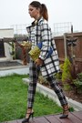 Ivory-marks-and-spencer-coat-yellow-asos-bag-black-check-plaid-primark-pants