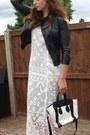 Ivory-asos-dress-black-zara-jacket-white-ebay-bag-white-new-look-heels
