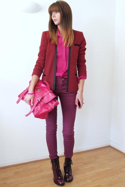 ruby red Internacionale blazer - brick red Primark boots