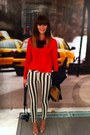 River-island-jeans-bright-red-new-look-shirt-tan-clutch-warehouse-bag