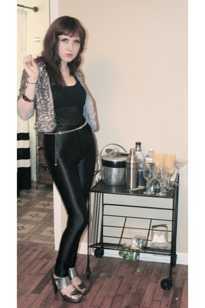 disco pants American Apparel pants - sequined Velvet jacket