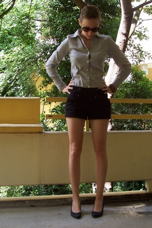 H&M blouse - H&M shorts - locally shop shoes - vintage glasses