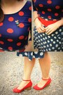 Navy-polka-dot-fred-meyer-shirt-navy-polka-dot-thrifted-skirt