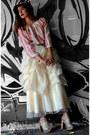 Ivory-vintage-skirt
