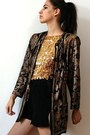 Dark-gray-vintage-jacket-black-vintage-shorts-gold-vintage-top