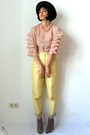 Tan-asos-boots-light-pink-vintage-blouse-light-yellow-vintage-pants