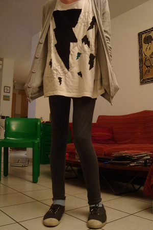 American Apparel jacket - t-shirt - tresics pants - Bensimon shoes