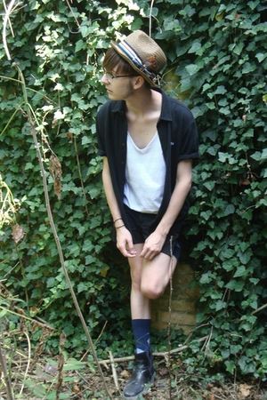 Lacoste shirt - American Apparel top - Peter Grimm hat - Only pants - vintage sh