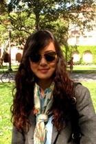 Ray Ban sunglasses - Forever21 scarf - Goodwill blazer - Gap tights - H&M shirt