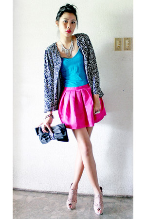hot pink bubbled skirt Topshop skirt