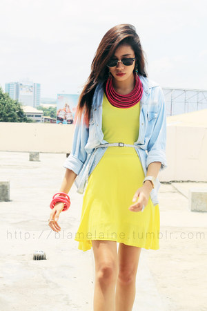 yellow cotton WAGW dress