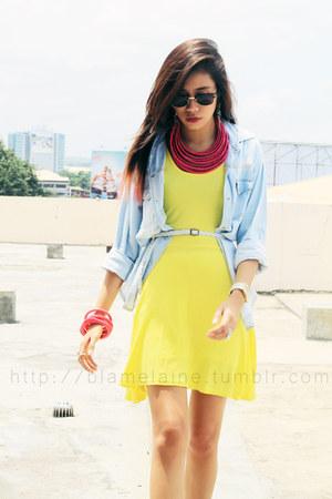 yellow cotton WAGW dress