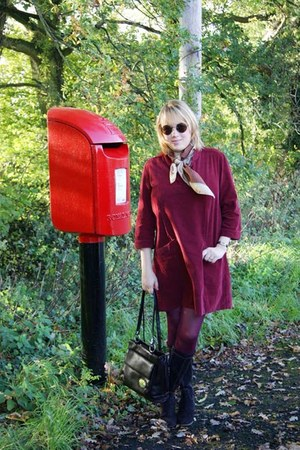 ruby red corduroy dress