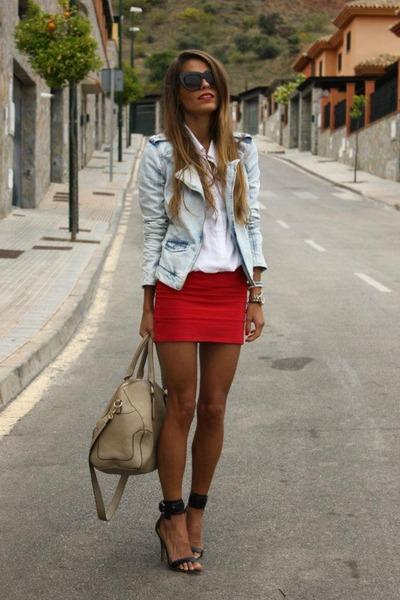 Charlotte Russe jacket - beige purse bag - Gucci sunglasses