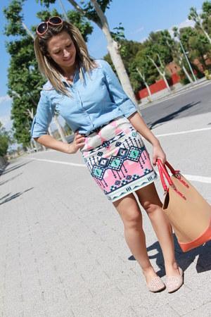 Bershka skirt - Stradivarius shirt - Zara bag - Stradivarius sunglasses