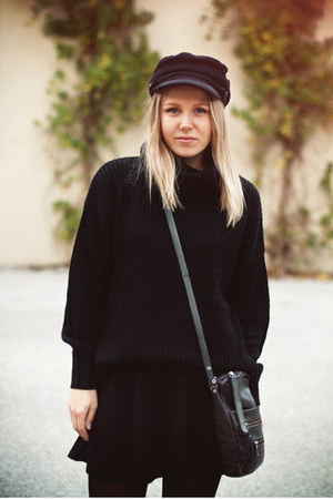 H&M hat - Cheap Monday boots - GINA TRICOT sweater - H&M skirt