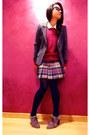 Beige-suede-vitulli-shoes-maroon-wool-ralph-lauren-sweater