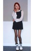 Topshop socks - Dr Martens boots - Limited Edition shirt - Topshop romper