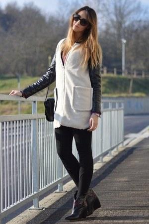 black Zara bag - Sheinside coat - black Valentino sunglasses