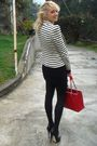 Chanel-purse-zara-blazer-penny-black-dress-aldo-shoes
