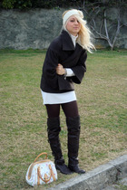 Louis Vuitton purse - Giuseppe Zanotti boots - Zara coat - Pinko dress - handmad