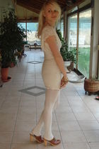 gianna meliani shoes - H&M dress - Calzedonia tights - Juicy Couture bracelet -