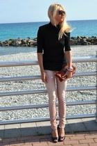 cycle jeans - Forever 21 t-shirt - lorissa sam edelman heels