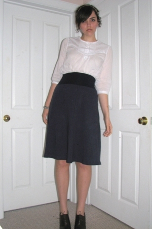forever 21 blouse - American Apparel skirt - Rack Room shoes