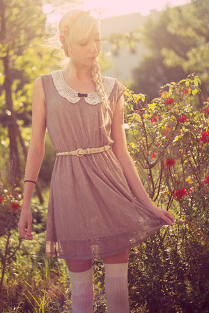 tan miss patina dress - pink Topshop accessories