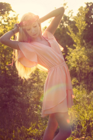 light pink AKIRA Black Label dress