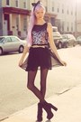 Black-chiffon-sequin-iwearsin-dress