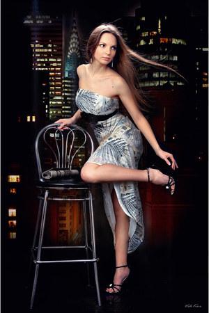 eggshell chiffon Elle Kor dress