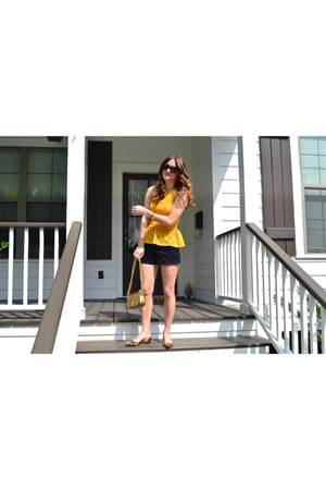 Loft bracelet - tory burch bag - Forever 21 shorts - Karen Walker sunglasses