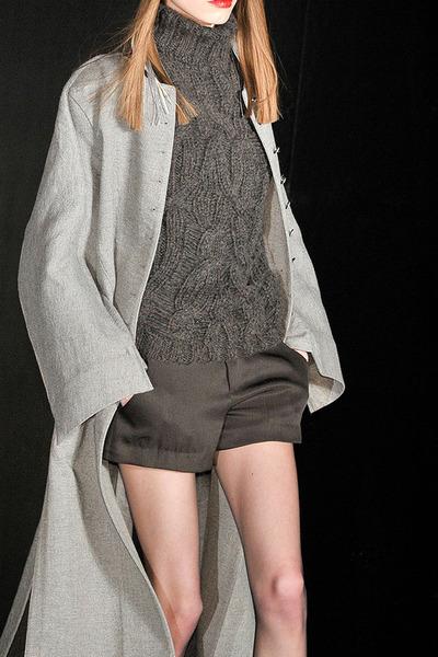 grey Theyskens Theory coat - knit Theyskens Theory sweater - grey Theyskens Theo