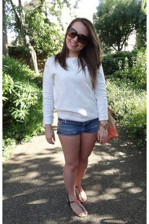 Topshop shorts - Chanel sunglasses - Primark sandals - Topshop jumper