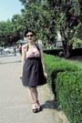 Tally-weijl-dress-meli-melo-sunglasses-leonardo-wedges