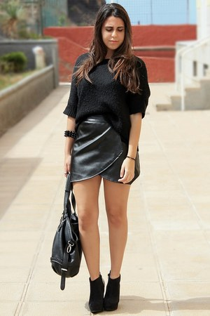 black Primark sweater - black Mulaya bag - black sammydress bracelet