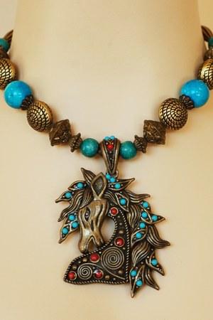 Vintage Figural Horse necklace