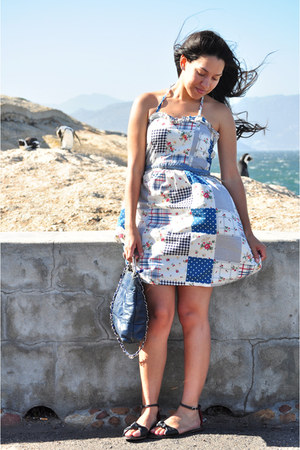 Kate & Allie sandals - vintage bag - bangkok dress - bangkok belt