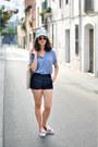 Violet-goorin-hat-light-blue-diy-shirt