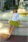 Brown-gortz-shoes-shoes-white-random-cardigan-lime-green-atmosphere-skirt